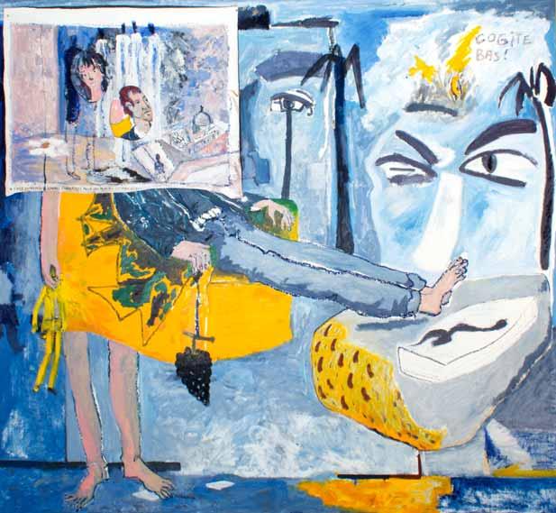 Cogite bas, technique mixte, technique mixte, 180 cm x 200 cm, 1990