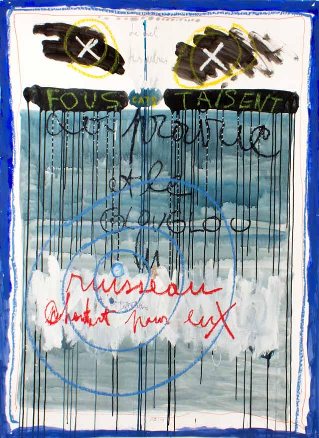 Fous Taisent, technique mixte, 150 cm x 110 cm, 2010