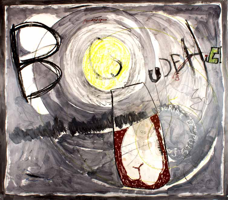 BOUDDHIC!, technique mixte, 150 cm x 172 cm, 2010