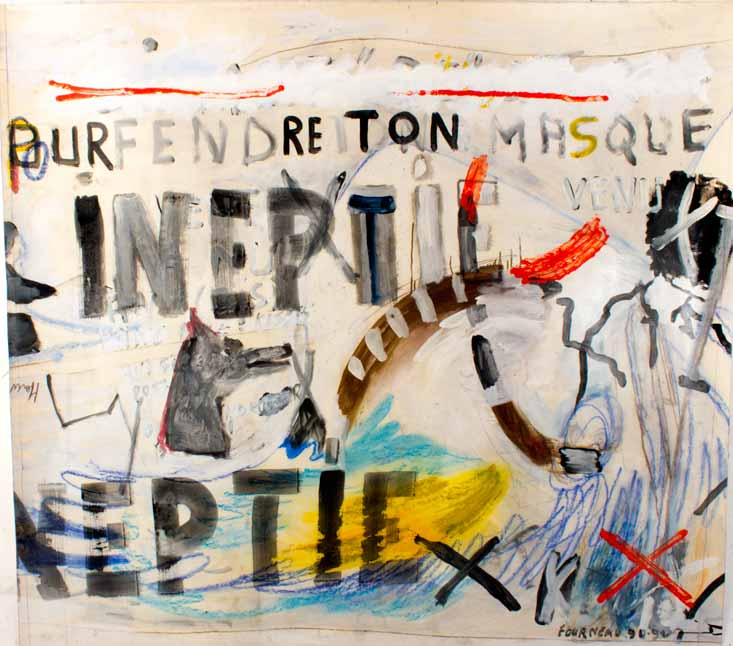 Ineptie, technique mixte, 150 cm x 160 cm, 1990